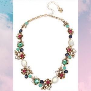 NWT Bug & Flower Cluster Necklace
